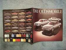 1981 OLDSMOBILE BROCHURE WE'VE HAD ONE BUILT FOR YOU  TORONADO NINETY EIGHT