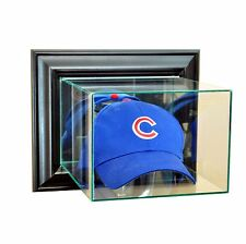 New Wall Mounted Cap / Hat Glass Display Case UV Black Molding FREE SHIPPING