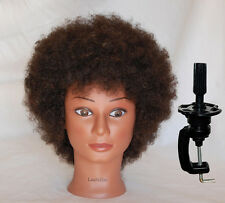 *USA SELLER* 100% HUMAN Hair Afro Cosmetology Mannequin Head