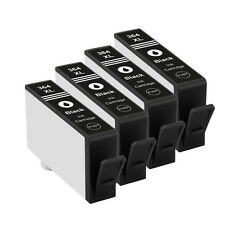 4 Black HP 364XL Ink Cartridges for Photosmart 5510 5515 5520 5524 6510 C6380
