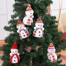 5x Cute Snowman Ornaments Festival Party Xmas Christmas Tree Hanging Decoration