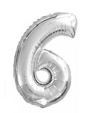 Ballon aluminium chiffre 6 - 82942 - Taille Unique - Port 0€ - Taille Unique