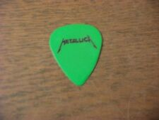 GUITAR PICK PICKS PLECTRUM TOUR USED METALLICA GREEN