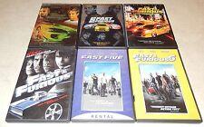 Fast & Furious 1 2 3 4 5 6  (DVD, 6 Discs) WS/FS Vin Diesel Paul Walker Racing