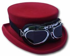 Steampunk red top hat -  Medium, approx 58 / 59cm
