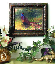 Thorburn PHEASANT Art Print Antique Vintage Style Small Framed Horse