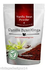 Natural Vanilla Bean Powder, 4.41 Oz, Raw Ground Vanilla Beans, Non GMO