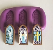 Silicone mould Church Windows(cupcake Topper.christening. Wedding.communion.holy