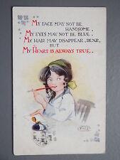 R&L Postcard: Y.W.S. Regent, Romantic Poem, Letter Writing