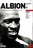 Football Programme WEST BROMWICH ALBION v ASTON VILLA Aug 2004