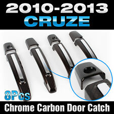 Chrome Carbon Door Catch Handle Garnish Molding for CHEVORET 2010-2013 Cruze