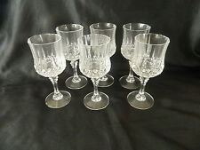 CRISTAL D'ARQUES LONGCHAMP CRYSTAL 250mls 6 RED WINE GOBLETS