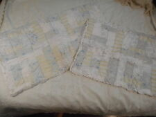 SIMPLY  SHABBY CHIC  set  of  two  patchwork  quilted  shams  .. standard &king