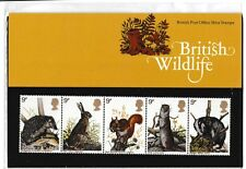 M1304dmsA5lc 1977 GB UK British Wildlife Stamp pack