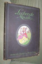 LACHENDE MUSIK Album beliebtesten Operetten Tänze Lieder Märsche BUCH geb c 1913