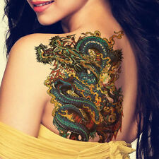 Large Womens / Mens Chinese Dragon Temporary Tattoos Body Art Design Fancy Dress