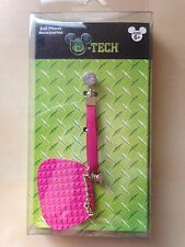 disney parks dark pink purse cell phone charm with rhinestones new with box