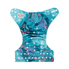 ALVA Baby Girl Cloth Diaper Reusable Adjustabel Pocket Nappy +1 Insert YD67