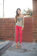 Joe's Anthropologie Ikat Print Pink Skinny Blogger 28