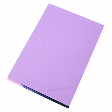 Visual Memory Aid A4 Lilac 100 Page Paper Notepad Refill Memo Lined Writing Pad