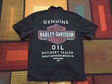 Harley Davidson Mechanics Garage Shirt Black sz M Oil Refinery Motorcycles HD