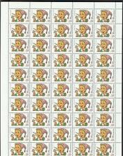 Russia 1991 Sc# 6076-79 set Children books Tales 4 scans full sheets MNH