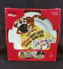 Vintage Kellogg's Cereal Plates Frosted Flakes Sugar Pops Cocoa Krispies NOS