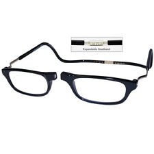 CliC +1.5 Diopter Magnetic Reading Glasses: Expandable - Black, Cheaters, Specs