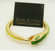 """Joan Rivers Textured and Beaded Serpent Bracelet  2 3/8"""""""