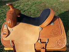 "15.5"" Johnny Scott Ranch Roping Saddle (Made in Texas) Roper"