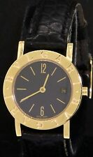 Bvlgari B-Zero BB 26 GL 18K gold high fashion quartz ladies watch w/ black dial