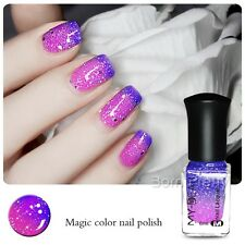 1Pc 6ml Thermal Color Changing Nail Art Varnish Polish Peel Off Blue to Purple