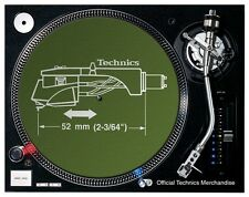 Technics Headshell Slipmats (pair/green)  OFFICIAL LICENSED DMC DJ