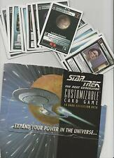 Star Trek customizable Card Game ccg Unlimited Premiere Edition selección Select