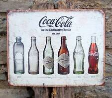 Coca Cola Bottles Tin Sign Retro Ad Coke Antique Style Old Bottle Wall Decor USA