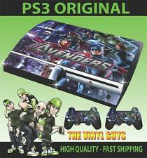 PLAYSTATION 3 / PS3 ORIGINAL AVENGERS ASSEMBLE 003 SKIN & 2 POLSTER FOLIEN