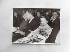 1950s B/W Photograph. Very Beautiful Woman, Seated at Theatre. Fashion/ Style