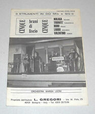 Spartiti ORCHESTRA MARISA LEONI Cinque brani Liscio Fisarmonica Gregori