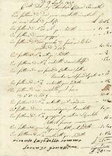 Conto del Marchese Cesare Boccella Consigliere del Duca di Lucca e Ministro 1840