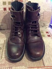 peter werth brown size 8 leather boots
