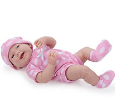 "JC Toys LA NEWBORN 15"" BERENGUER REAL GIRL PINK POLKA DOT Baby Doll 18512 NEW"