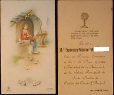 ESTAMPA PRIMERA COMUNION IGLESIA SANTA MARINA CUBILLO CAMPO 1959 HOLY CARD C494