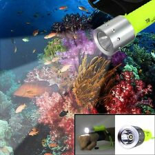 Waterproof 2500LM XM-L T6 LED Diving Flashlight 18650 Light Torch Underwater 80M