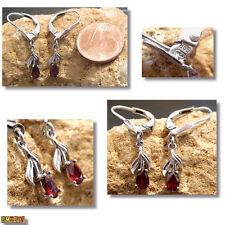 Granat Ohrringe Ohrhänger mit Granate 835 Silber