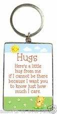 Hugs Metal Keyring with Lovely words show how much you care - Gift Idea
