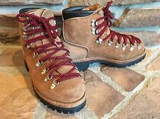 vintage DEXTER leather hiking mountaineering BOOTS VIBRAM soles MENS sz 7 1/2 US