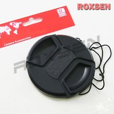 82mm center pinch snap on Front Lens Cap Cover for Canon Nikon Sony w string CA