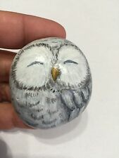 Owl 1,5x2 in. Hand Painted on a rock artist V.Kovtun / amazing gift