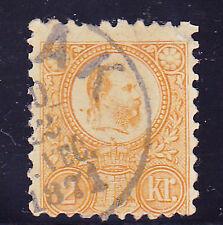 Alt Ungarn 1871-Kaiser Franz Joseph I.-Mi.-Nr.1 orange-gebraucht 1871