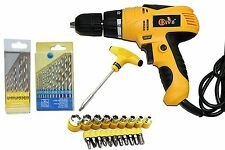 Electric Screw Driver Cum Drill Machines With ScrewDriver Bits&Sockets Drill Bit